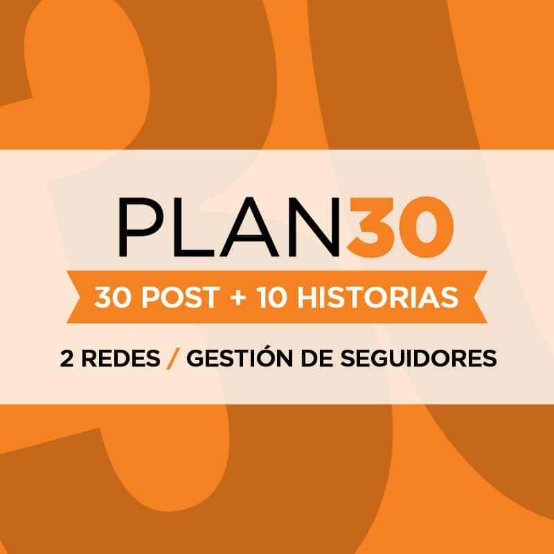 Gestión de Redes Sociales  - Plan 30