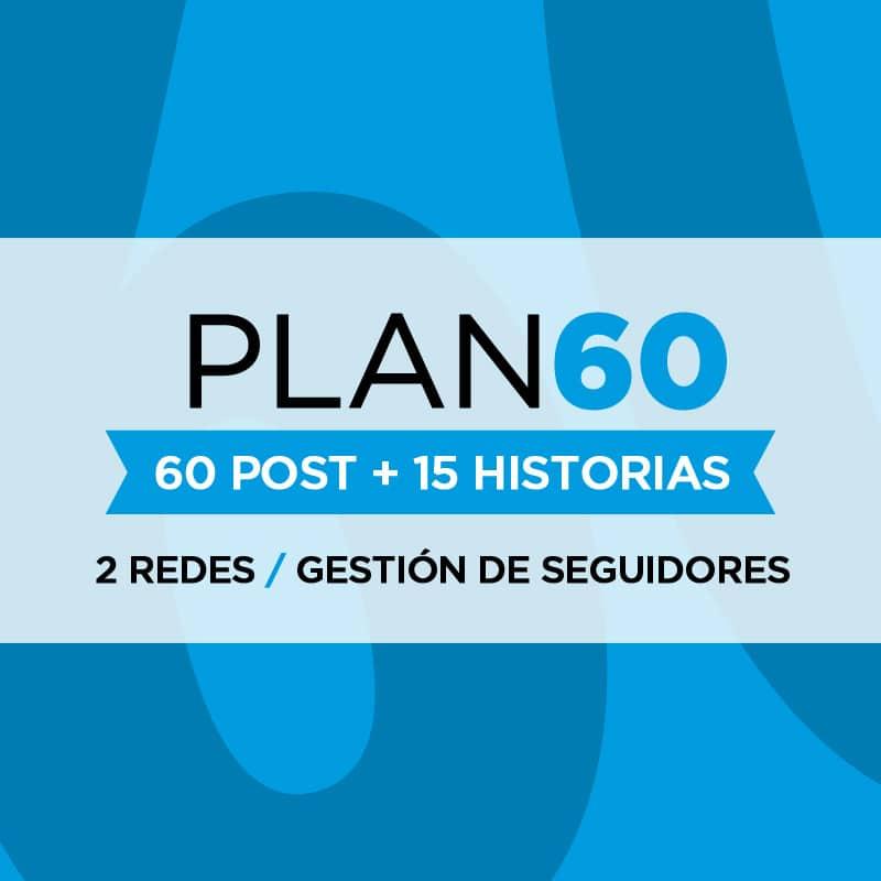 Gestión de Redes Sociales - Plan 60